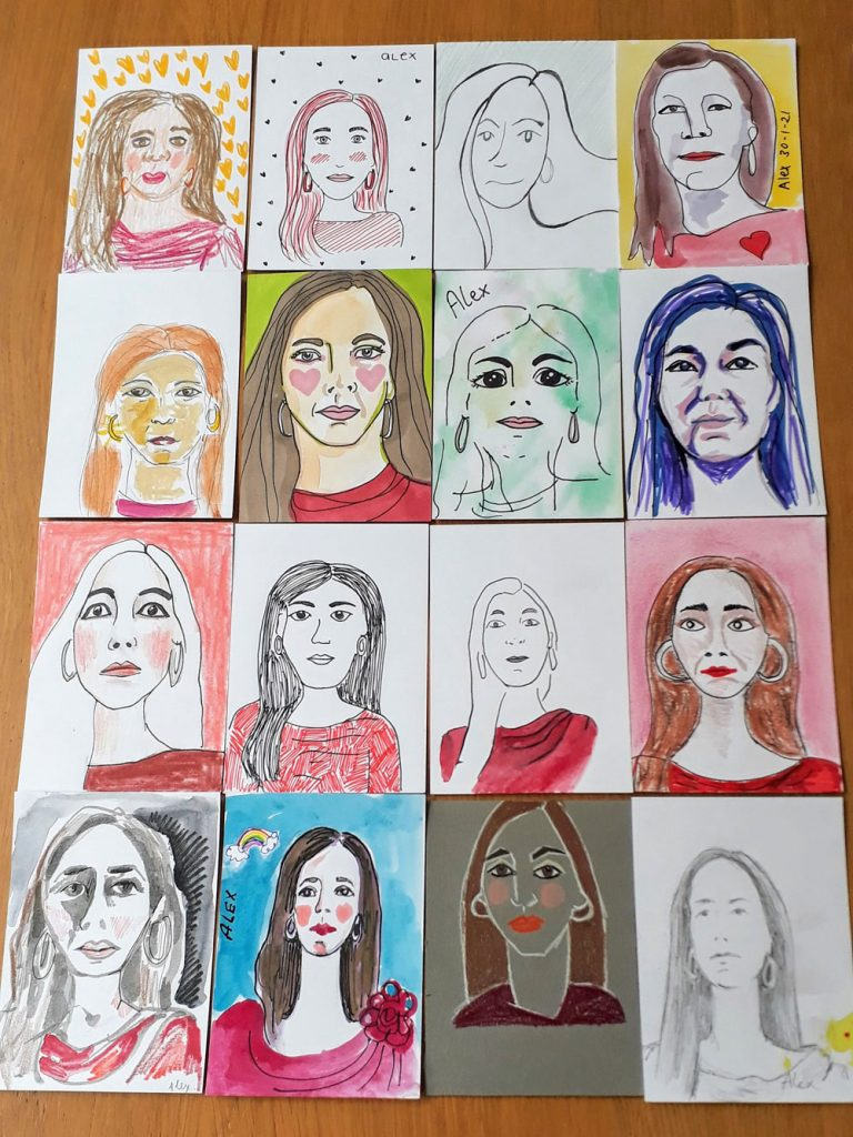 16 sketches of me!